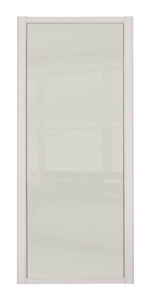 Shaker Sliding Wardrobe Door- CASHMERE FRAME- SOFT WHITE SINGLE PANEL